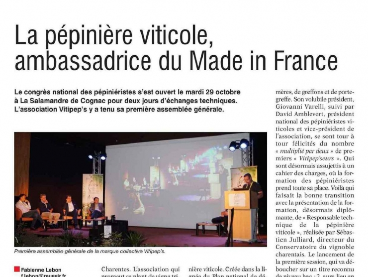 La Pépinière viticole ambassadrice du made in France